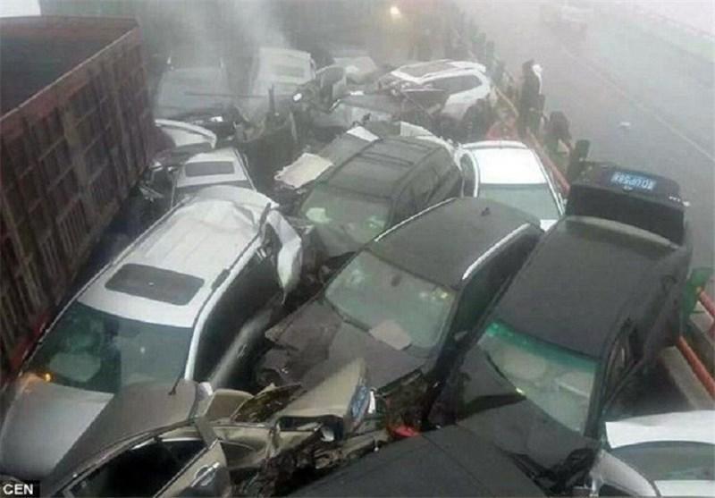 تصادف زنجیره ای شدید در چین 6 کشته برجای گذاشت