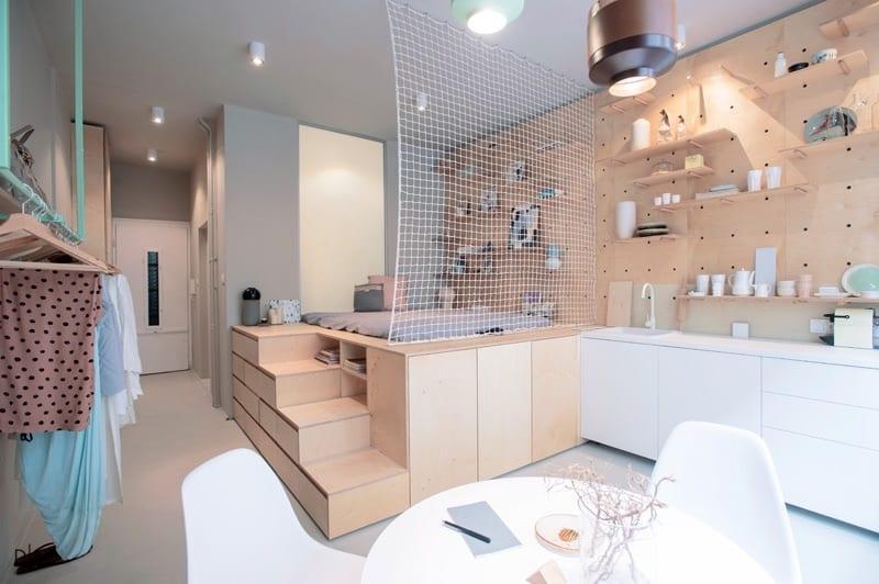 طراحی آپارتمانی کوچک برای اجاره دادن به مسافران