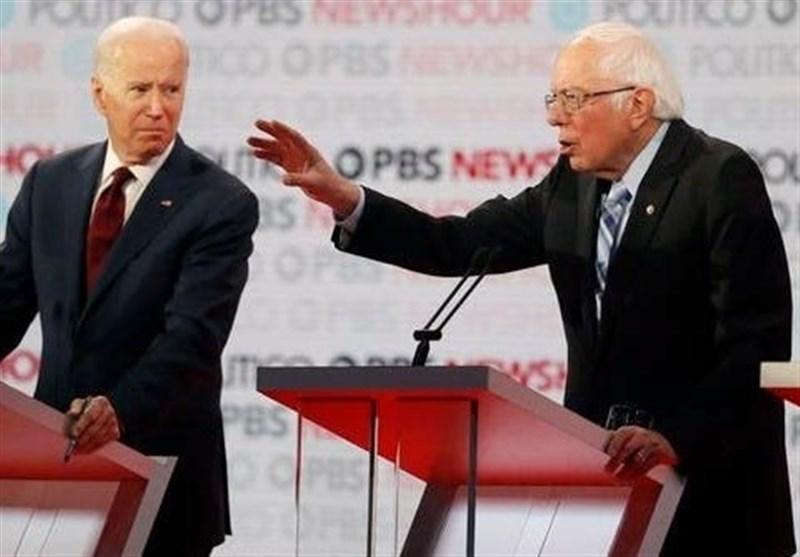 سندرز: قصد ندارم از رقابت با جو بایدن کناره گیری کنم