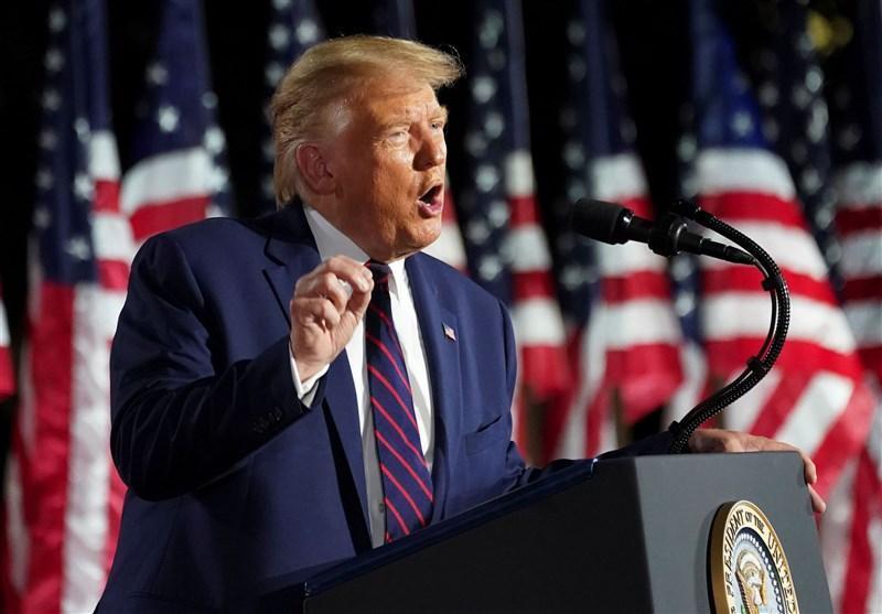 سخنرانی انتخاباتی ترامپ در شهر آشوب زده کنوشا درباره نظم و قانون