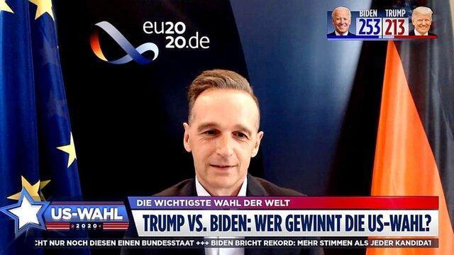 وزیر خارجه آلمان: مناقشه انتخاباتی آمریکا، برای امنیت بین المللی خطرناک است