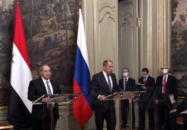 تاکید المقداد بر گسترش روابط دمشق-مسکو و انتقاد لاوروف از سیاستهای ضد سوری غرب