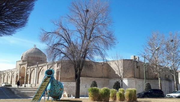 خاتمه عملیات بازسازی بدنه ضلع شمالی مسجد جامع گلپایگان