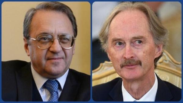 نتایج دور پنجم مذاکرات قانون اساسی سوریه محور رایزنی بوگدانف و پدرسن