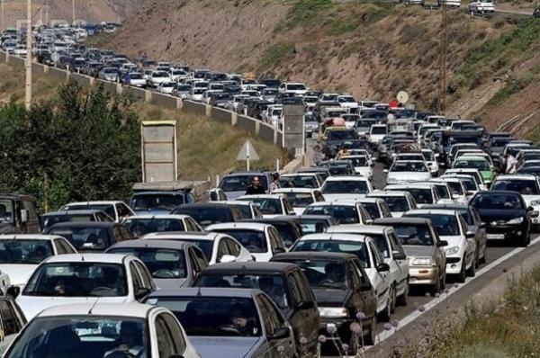 ترافیک سنگین در آزادراه تهران - شمال خبرنگاران