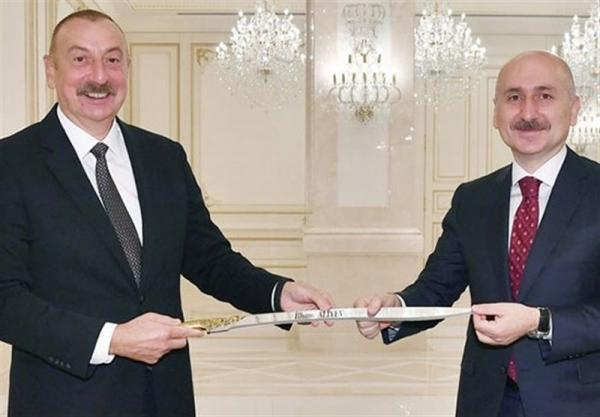 سفر وزیر حمل و نقل ترکیه به جمهوری آذربایجان برای کریدور زنگزور