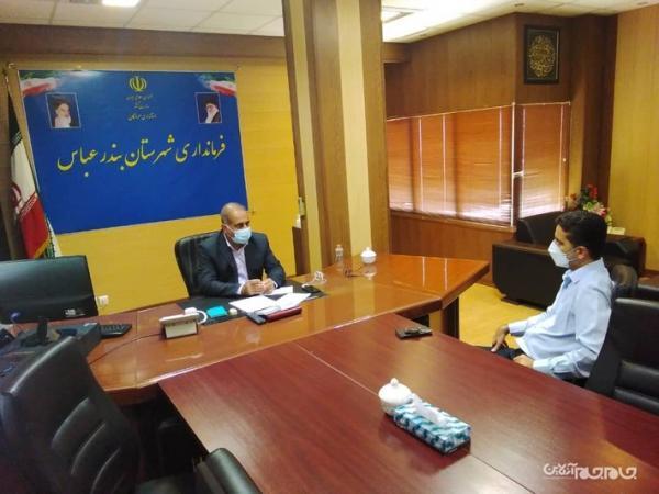 ملاقات فرماندار بندرعباس با معاون بهره برداری شرکت توزیع برق هرمزگان