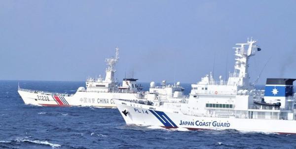 مانور جنجالی کشتی های چینی