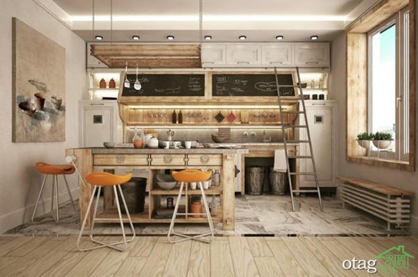 معرفی 32 مدل طراحی آشپزخانه صنعتی بسیار شیک سال 2021